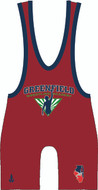 WarriorSport Red Free Style/Greco Singlet Singlet
