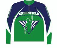WarriorSport Quarter Zip Pull over designed for Greenfield Academy