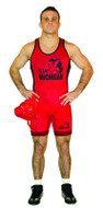 Red -Royal - Black Cliff Keen Reversible Lycra Singlet