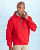 Gildan Contrast Hooded Sweatshirt - #185C00