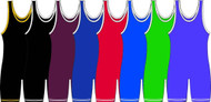 Solid Color Matman Adult Knit Stock Singlet