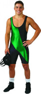 Two Color Matman Chest Sweep Lycra Stock Singlet