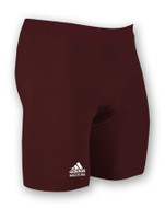 Adidas - Maroon Custom Sewn Compression Shorts aA301c