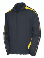 Black/Gold - Tonix Resilience Full Zip Warm Up Top #1080