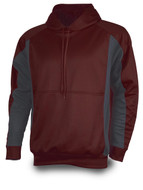 Maroon/Graphite - Tonix Fadeaway Performance Fleece Hood #1480