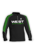 Black Custom Sublimated Half Zip Pullover Adidas aA400hz