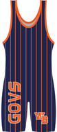 WarriorSport Custom Sublimated Singlet Template 1515