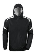 Black/White - Tonix Resistance 1/4 Zip Hood Jacket #1170