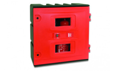 Hose Reel and Equipment Cabinet