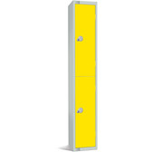 Two Door Locker - 1800 x 300 x 450mm yellow