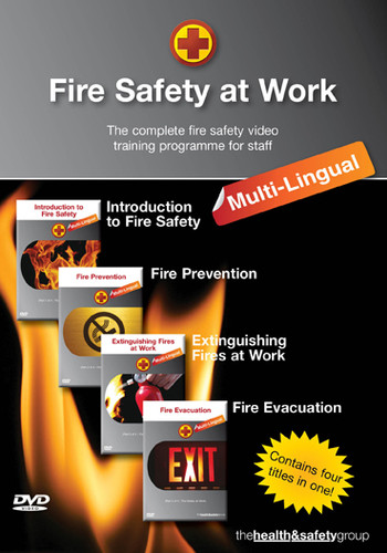 Fire Safety at Work Multi Lingual DVD - Four Titles