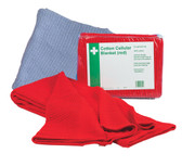 Red 100% Cellular Cotton Blanket