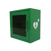 AED Cabinet Indoor - Green - side view