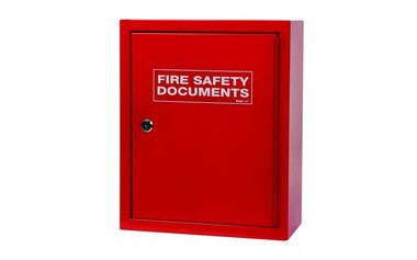 Metal Document Cabinet, Key Lock, Red