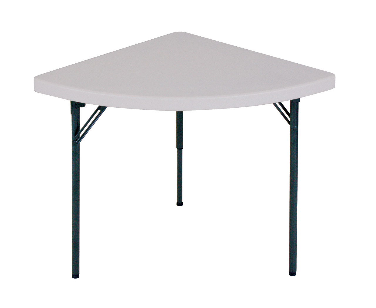 Correll fs3030w wedge lightweight food service folding table for Cuisine table retractable