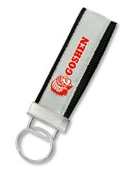 Custom Woven Keychain Strap with Brushed Steel : LAN-104BS