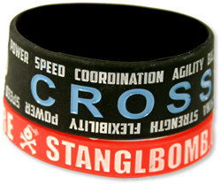 PW-602C Debossed & Color Fille-In Silicone Wristbands