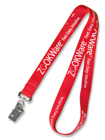 "5/8"" Wide - Economy Flat Polyester Screen-Printed Lanyard"