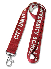 Woven-In Custom Lanyard - Text Only (Embroidered)