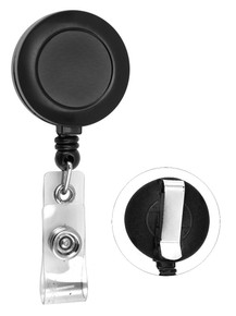 Plain Retractable Badge Reel with PVC Strap & Belt Clip