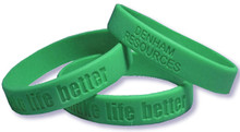 Debossed Custom Silicone Wristbands