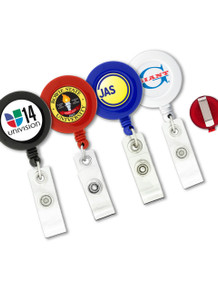 Round Badge Reel w/ Belt Clip - Full Color Print