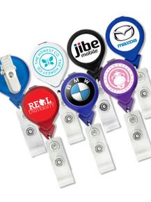 Tear-Drop Badge Reel w/ Swivel Clip, Full Color Print