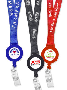 Printed Lanyard & Printed Retractable Badge Reel Set