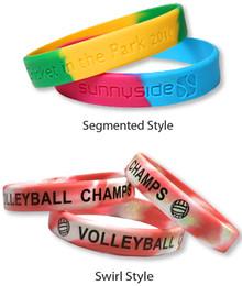 Multi-Color Custom Silicone Wristbands