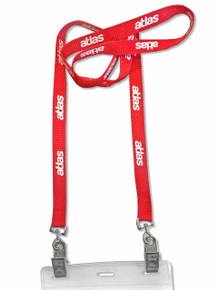 "Double-Ended Attachment Lanyard - Screen Printed (1/2"" Wide)"