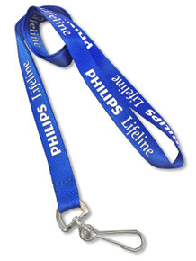 "Nylon Screen-Printed Lanyard - 5/8"" wide"
