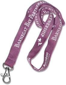 "Recycled Screen-Printed Lanyard - 3/4"" wide"