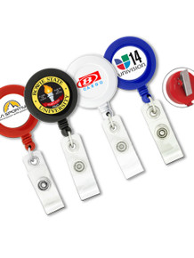 Round Badge Reel w/ Swivel Clip - Full Color Print