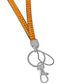 Rhinestone Lanyard - ORANGE