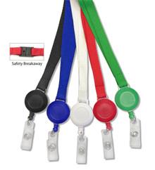 Plain Lanyard / Badge Reel Set with PVC Strap