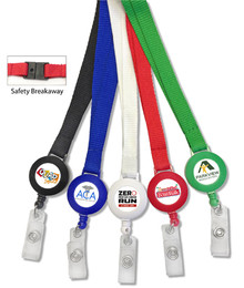 Full Color Printed Badge Reel with Plain Lanyard