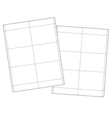 "4""x3"" Paper Name Tag Insert (500 inserts/pack)"