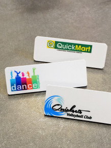 "Name Tags  - Full Color Plastic (1""X3"")"