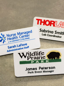 "Full Color Plastic Name Tags w/ Personalization (1-1/2""x3"")"
