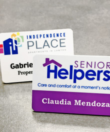 "Full Color Plastic Name Tags w/ Personalization (2""x3"")"