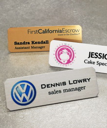 "Name Tags - Full Color Aluminum w/ Personalization (1""x3"")"