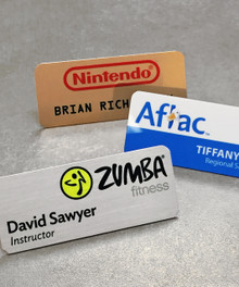 "Name Tags - Full Color Aluminum  w/ Personalization (1-1/4""x3"")"
