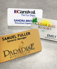 "Name Tags - Full Color Aluminum w/ Personalization (1-1/2""x3"")"