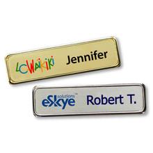 "Name Tags - Executive Metal Frame w/ Personalization (0.75""x2.75"")"