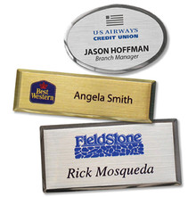 """Name Tags - Executive Metal w/ Personalization (1.5""""x2.5 """", oval)"""