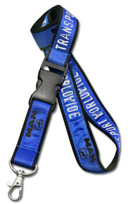 "Screen-Printed Double-Layered Lanyard - 1"" Wide"