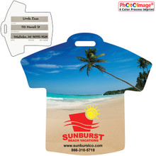 Stock Shape Beach Scene T-Shirt Luggage Bag Tag