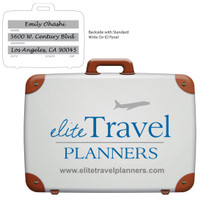Stock Shape Suitcase Luggage Bag Tag