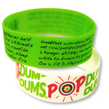 "1"" Screen Printed Silicone Wristband"