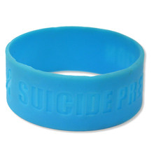 "1"" Debossed Custom Silicone Wristbands"
